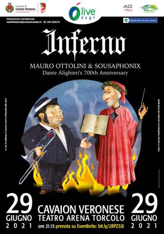 """MAURO OTTOLINI e SOUSAPHONIX il 29 giugno a Cavaion per la sonorizzazione live di""""Inferno"""""""